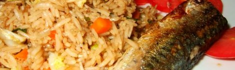 Pan Fried Mackerel with Thai Twist Rice